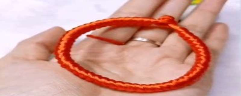 5号线编织金刚红绳手链方法